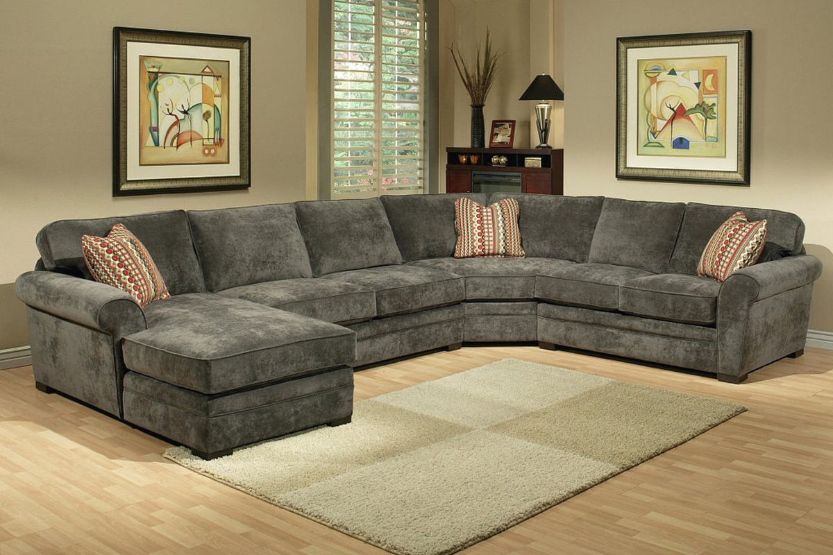 Gypsy Four Piece Left Arm Sectional Gypsy By Jonathan Louis Collection In Living Room At