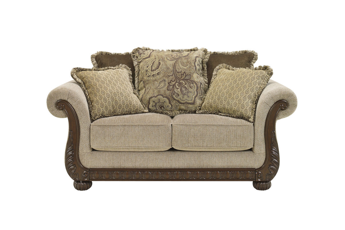 Chenille sofas and loveseats colton grey chenille for Traditional sofas and loveseats