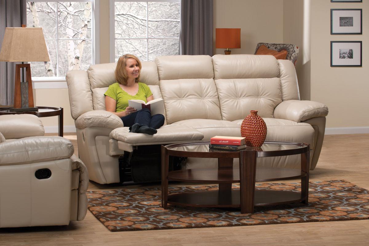 Calahan Leather Reclining Sofa At Gardner White