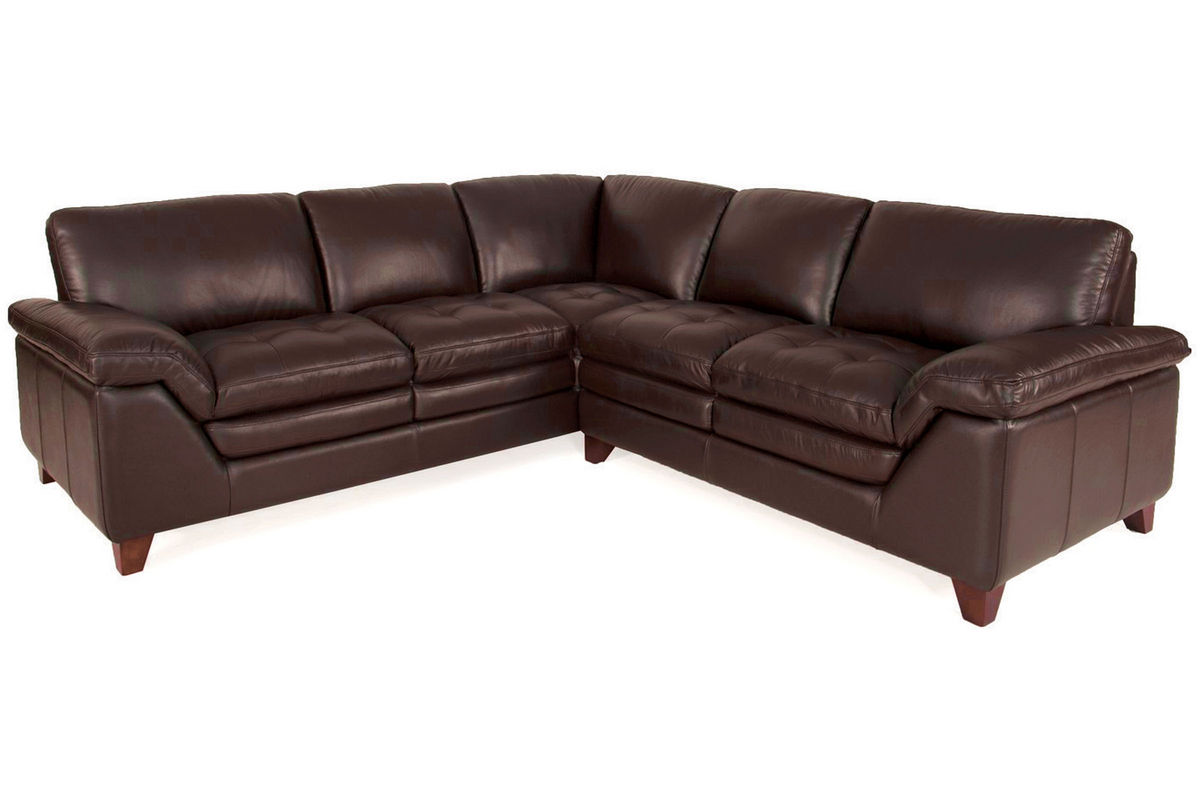 Amaretto 2 Piece Leather Sectional Amp Armless Chair