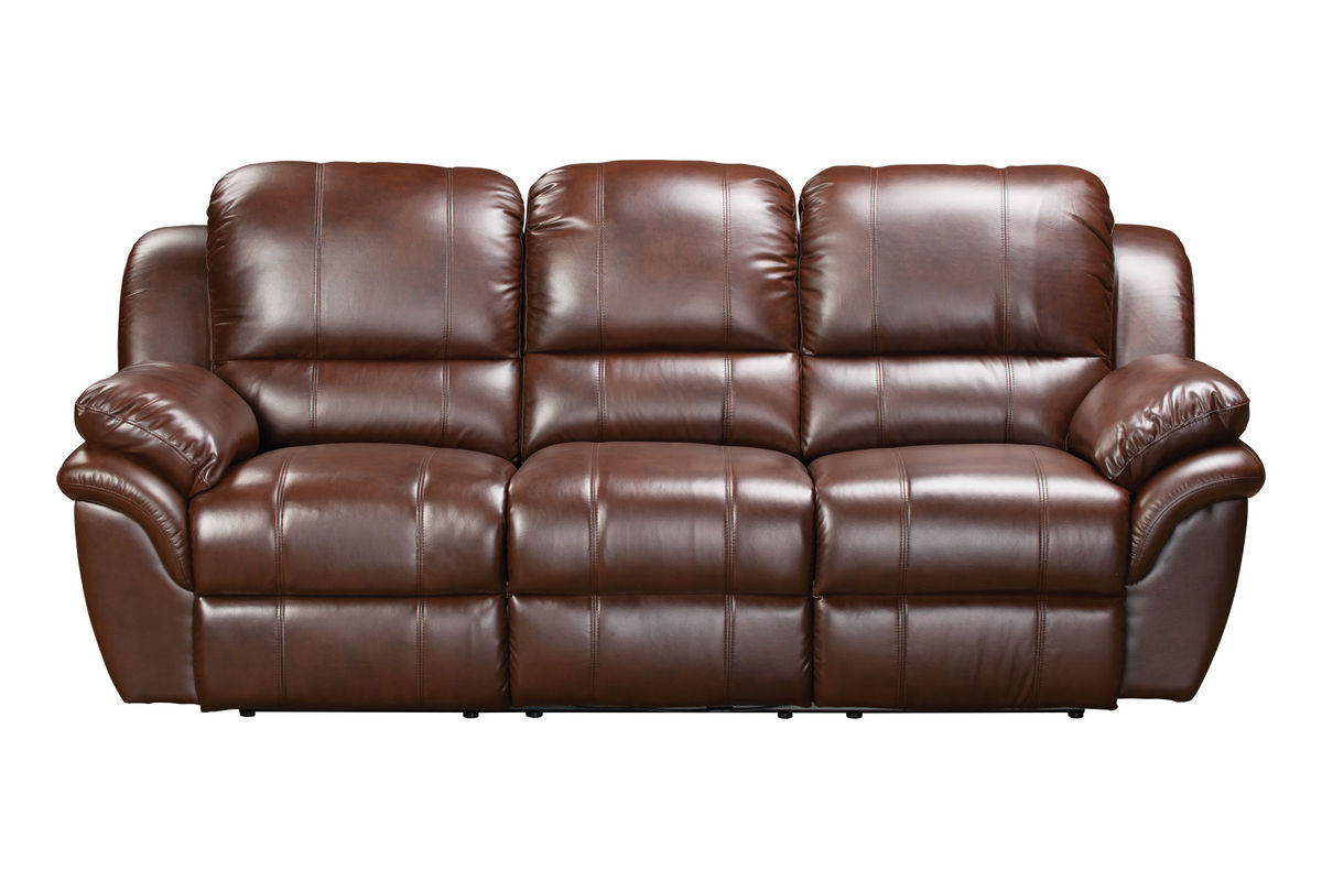 Blair power reclining leather sofa loveseat 32 tv at gardner white Leather reclining sofa loveseat