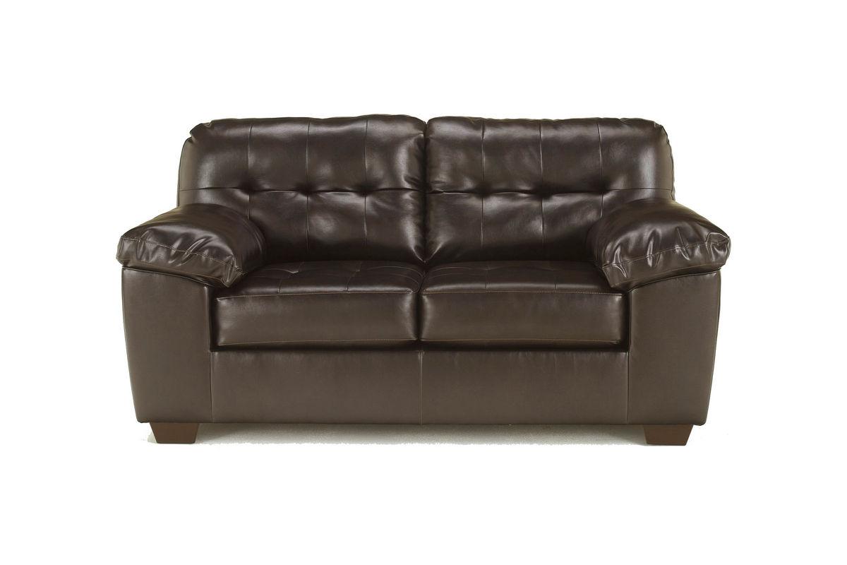 Alliston Bonded Leather Loveseat