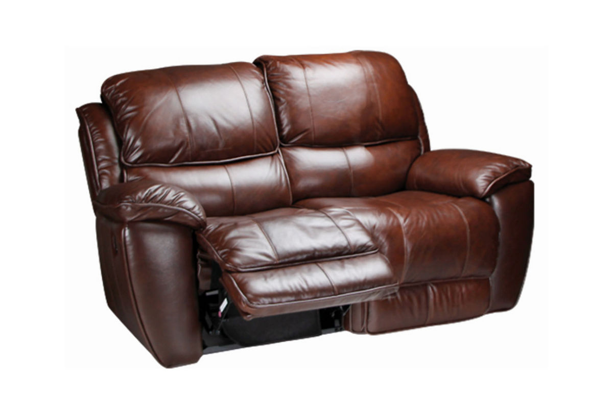 Crosby leather reclining loveseat at gardner white Loveseats that recline