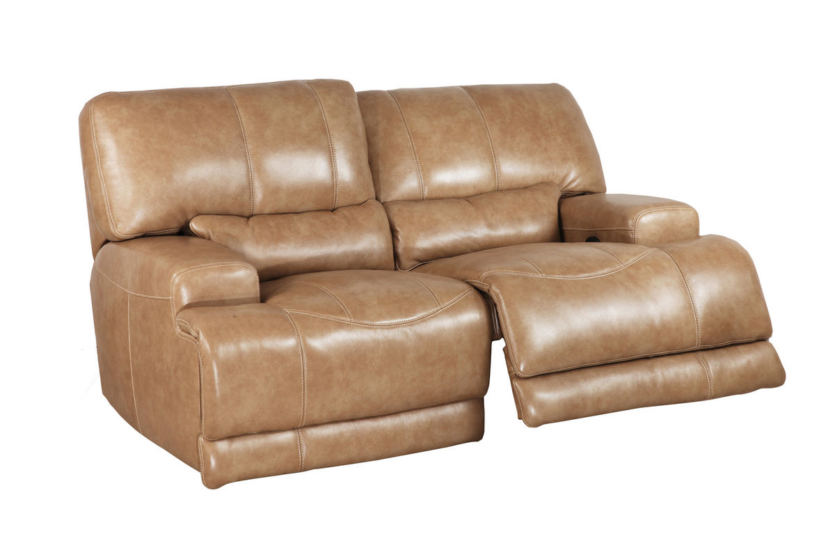 Hamlin power reclining leather loveseat at gardner white Leather reclining sofa loveseat