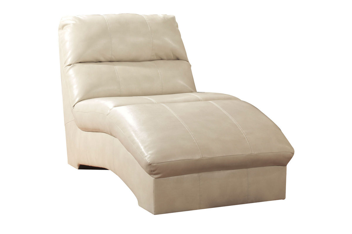 Talin leather chaise lounge at gardner white for Chaise leather lounges
