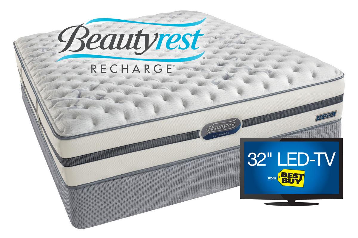 Beautyrest Recharge Gia Plush Queen Flat Set
