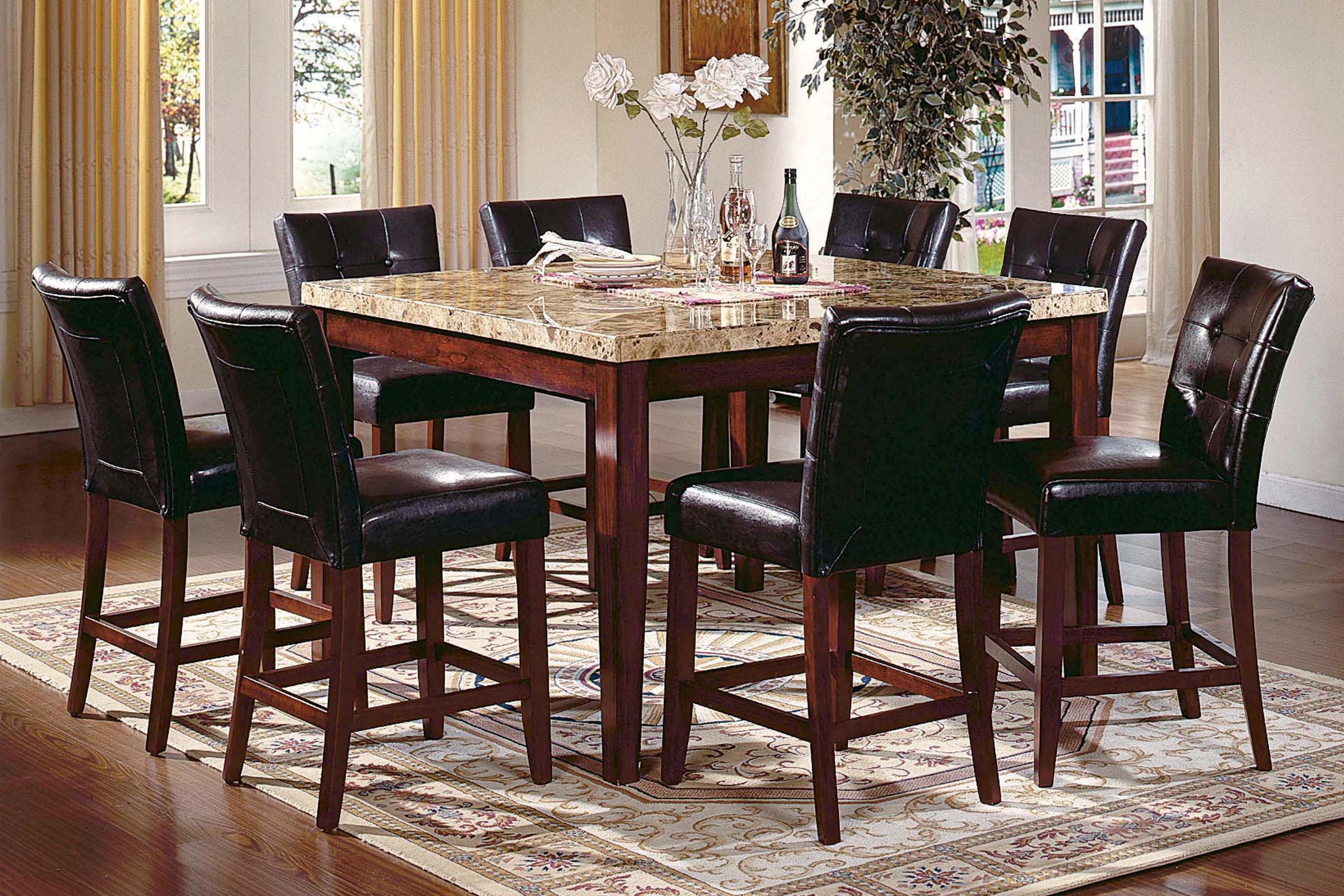 . Montibello Gathering Table   6 Stools