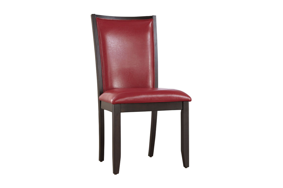 Trish red upholstered side chair at gardner white for Red and white upholstered chairs