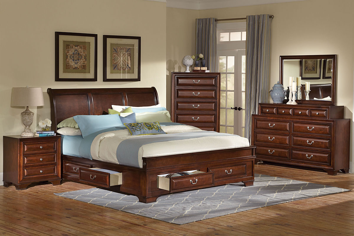 Caldwell king storage bed at gardner white for Gardner storage