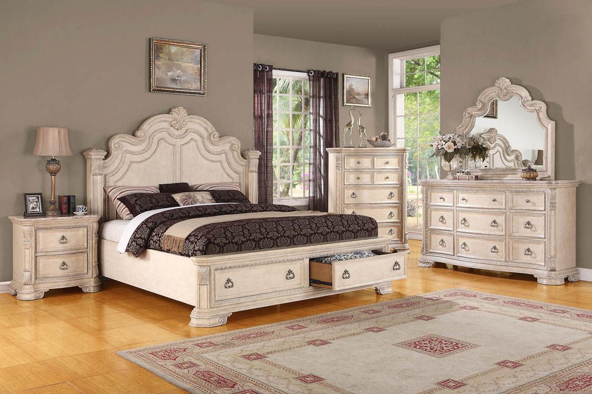 Caroline Queen Bed With Storage