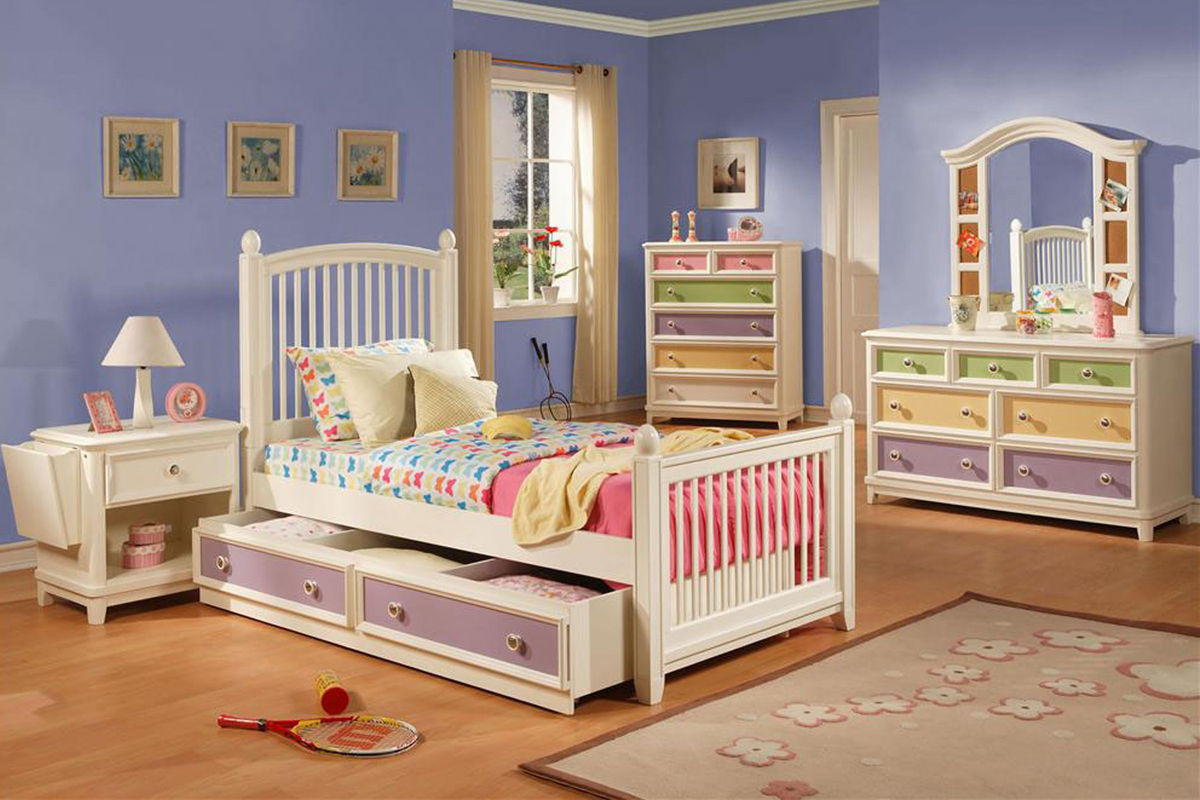 Jenny twin bedroom set with trundle storage at gardner white White twin trundle bedroom set