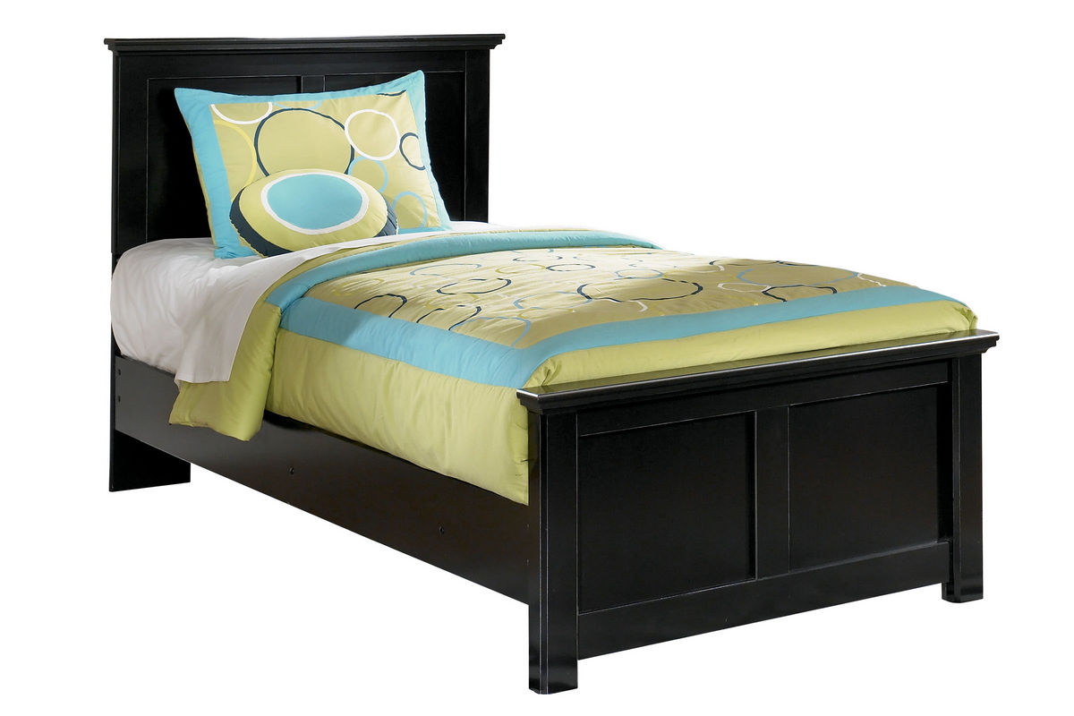Powell White Twin Bedroom In A Box: Maribel Black Twin Bed At Gardner-White