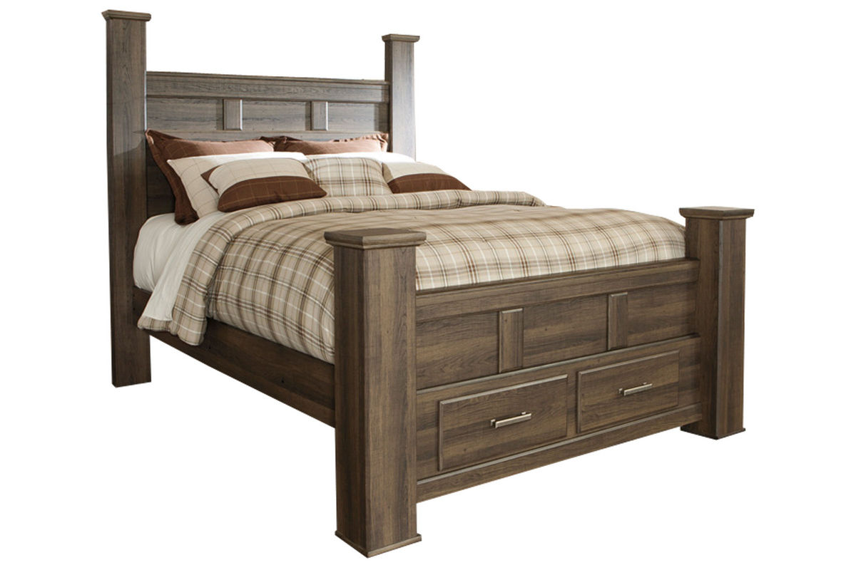 Jeri Queen Bed With Storage Footboard At Gardner White