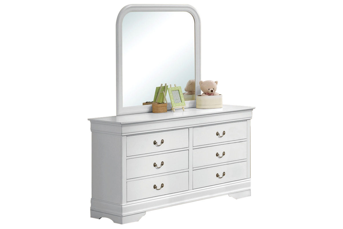 serena dresser mirror at gardner white. Black Bedroom Furniture Sets. Home Design Ideas