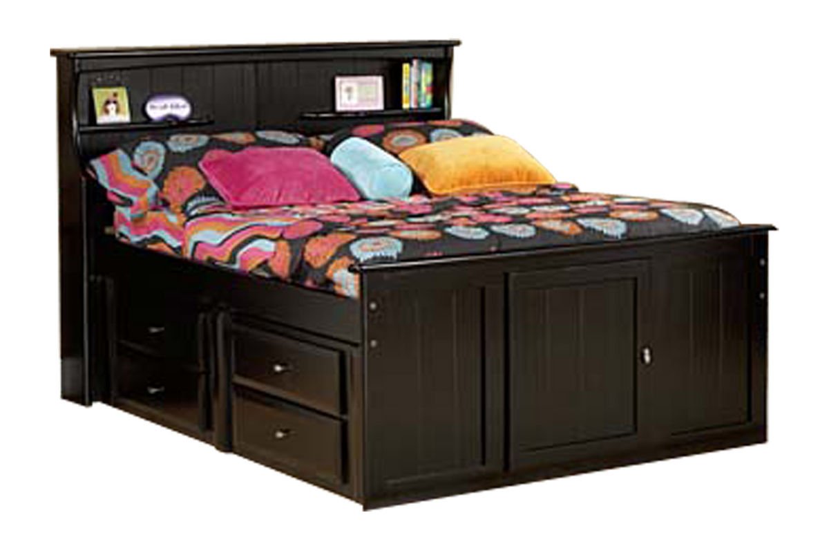 Laguna Black Full Bookcase Bed At Gardner White