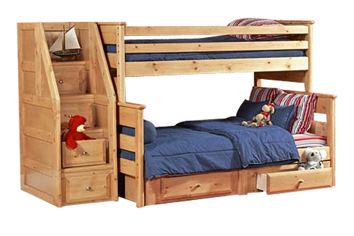 Powell White Twin Bedroom In A Box: Laguna Carmel Twin-Over-Full Bunk Bed At Gardner-White