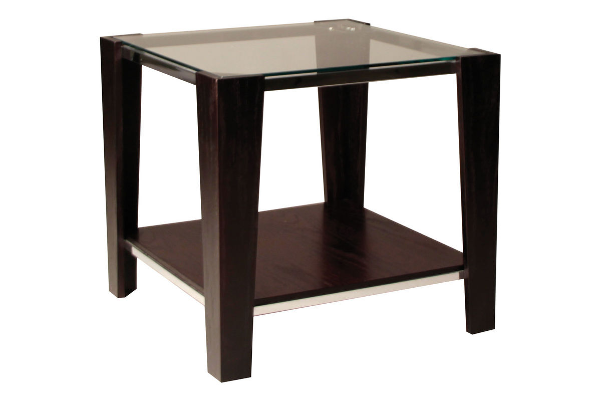 Contemporary glass top end table at gardner white for White end table