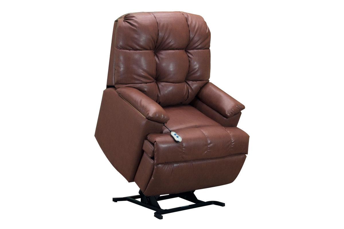 Medlift Brown Bonded Leather Lift Chair At Gardner White