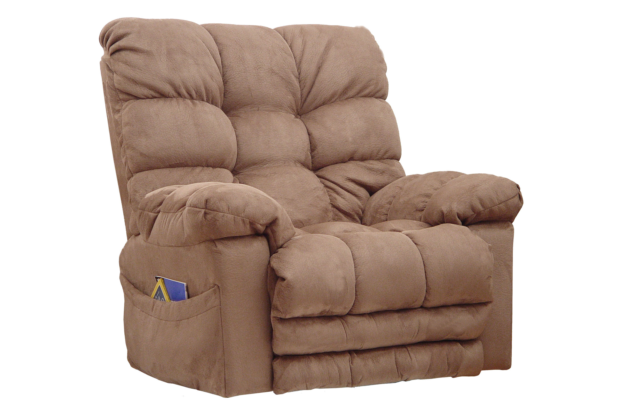 microfiber rocker recliner with heat  massage -