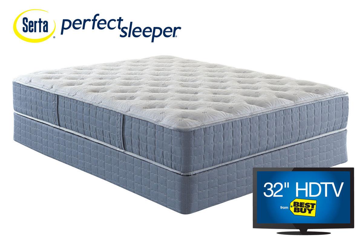Serta Perfect Sleeper 174 Lakemont Plush Queen Mattress At