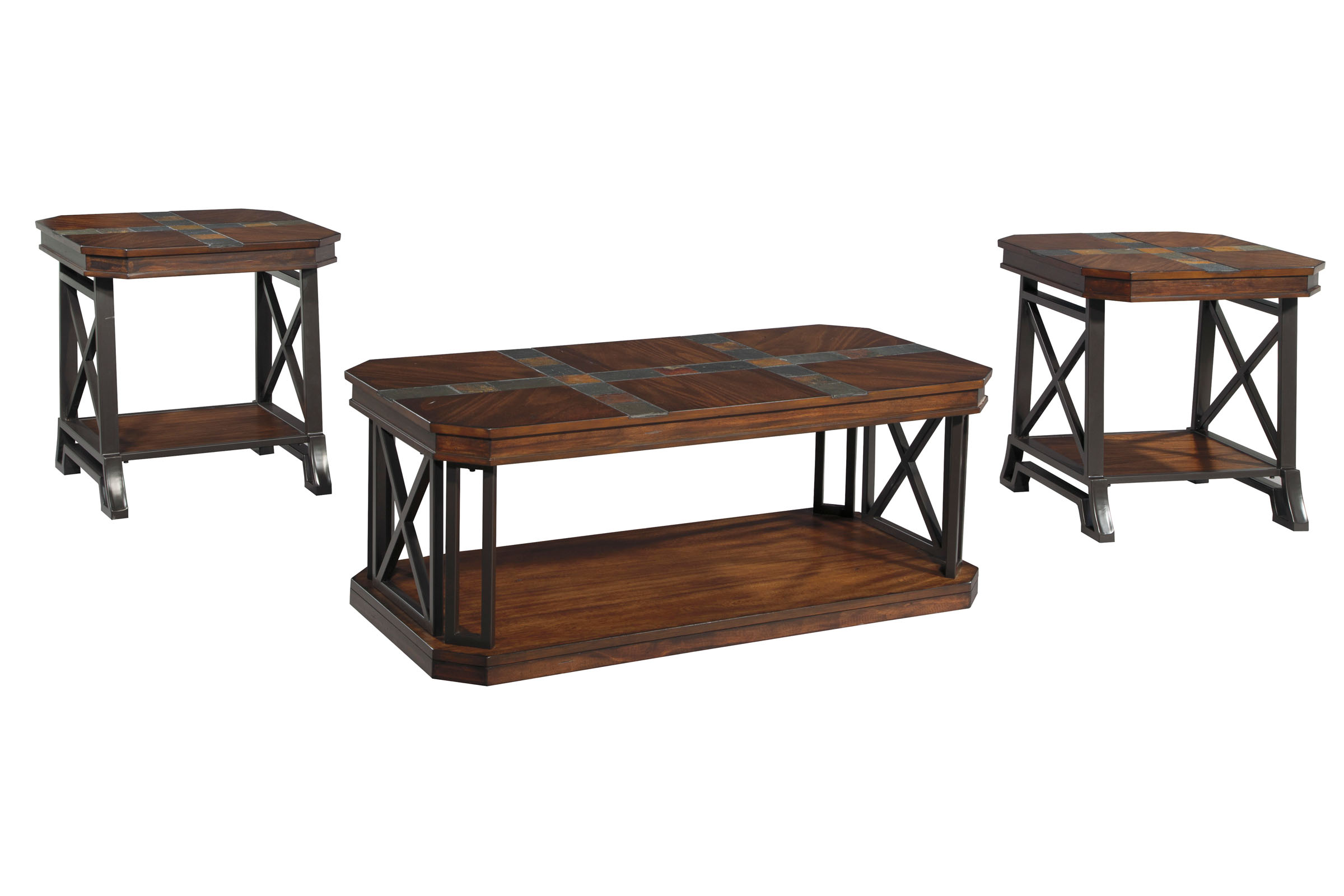 Vinasville Cocktail Table & 2 End Tables