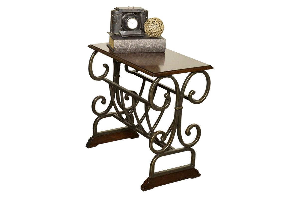 Metal Scroll Chairside Table At Gardner White