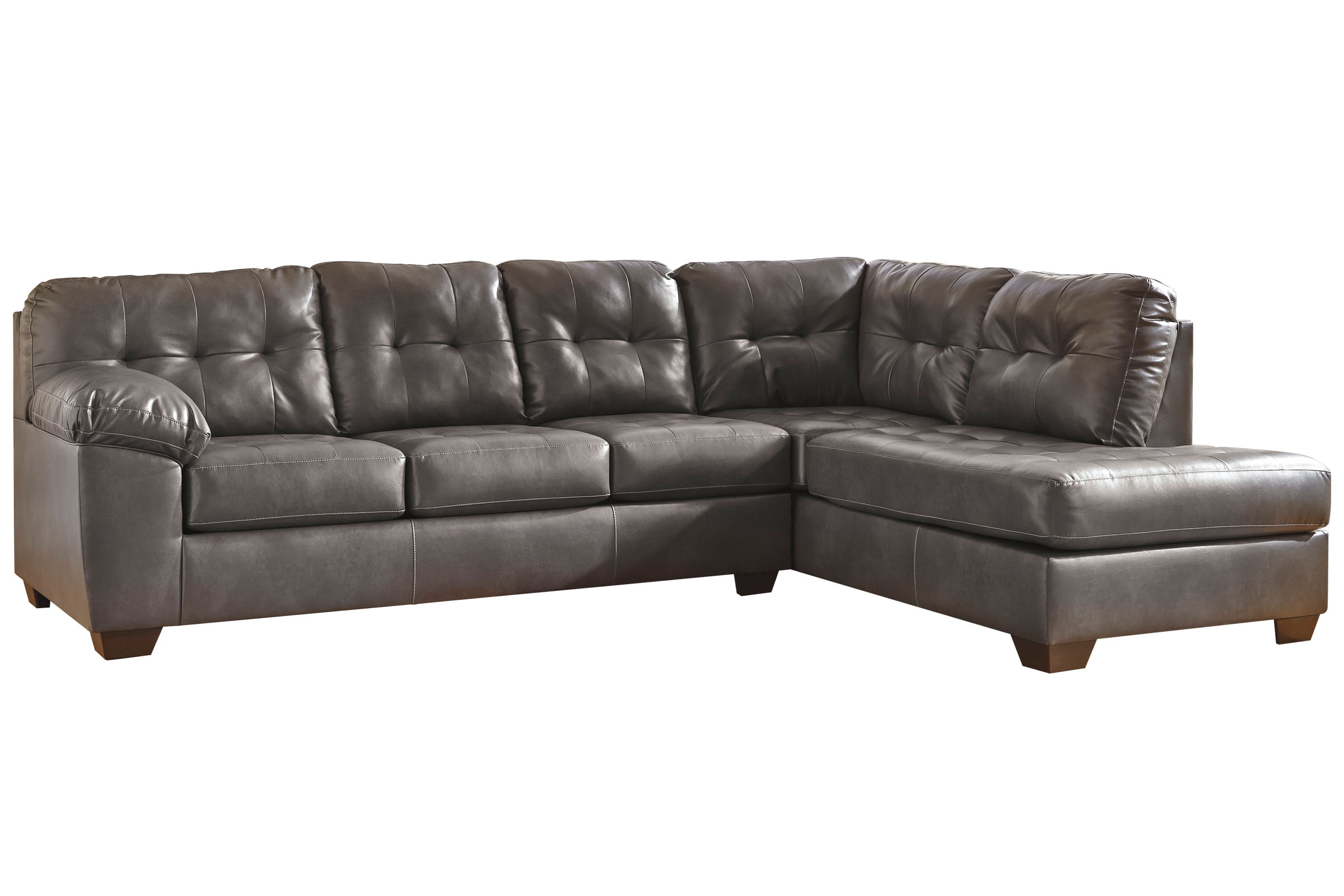 Gray Leather Sectional Grey Leather Sectional Sofa With White