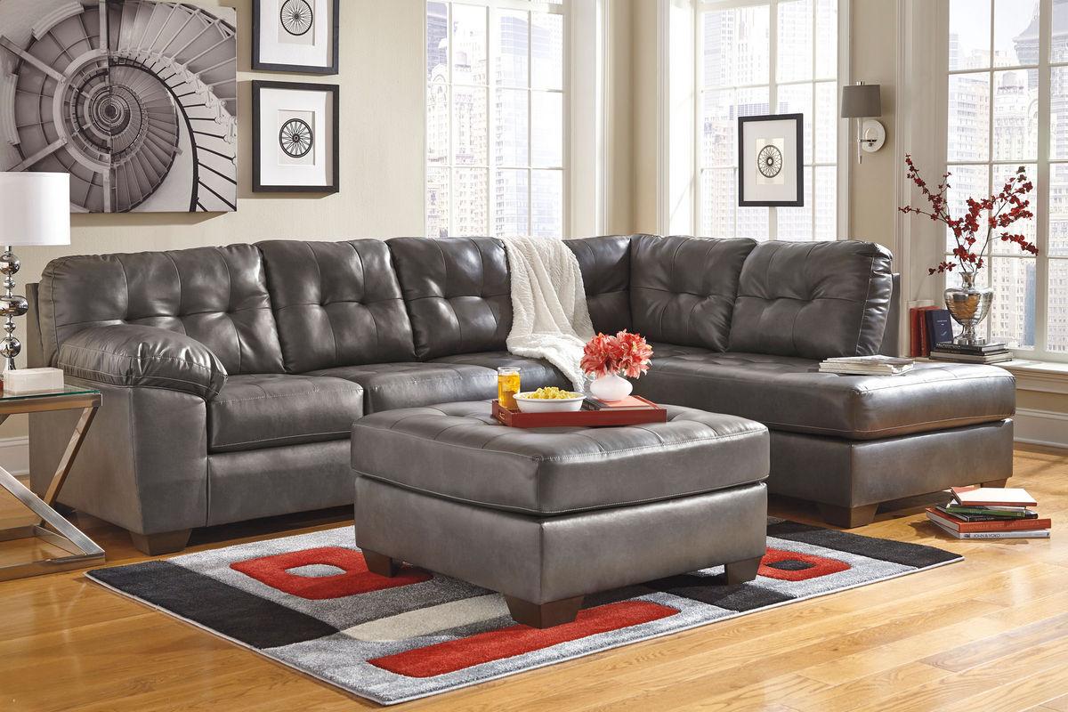 Edison bonded leather sectional at gardner white - Gardner white furniture living room ...