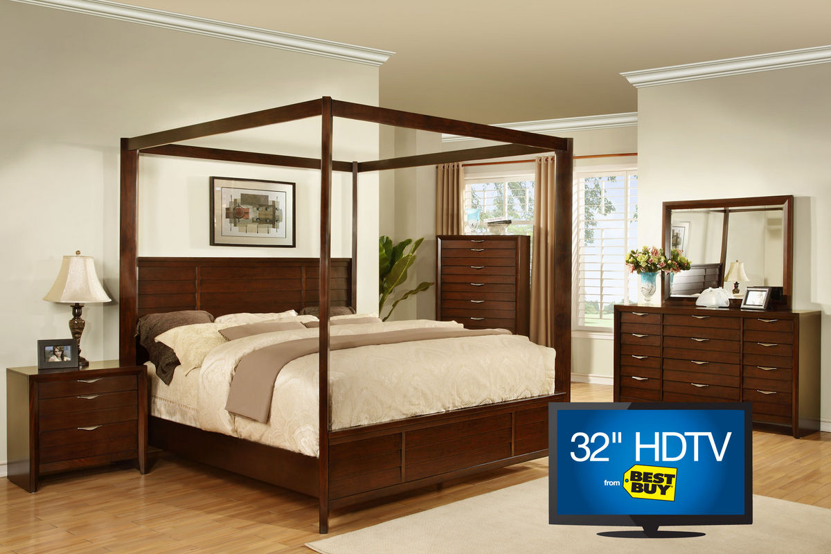 lucasta queen 5 piece bedroom set with 32 tv