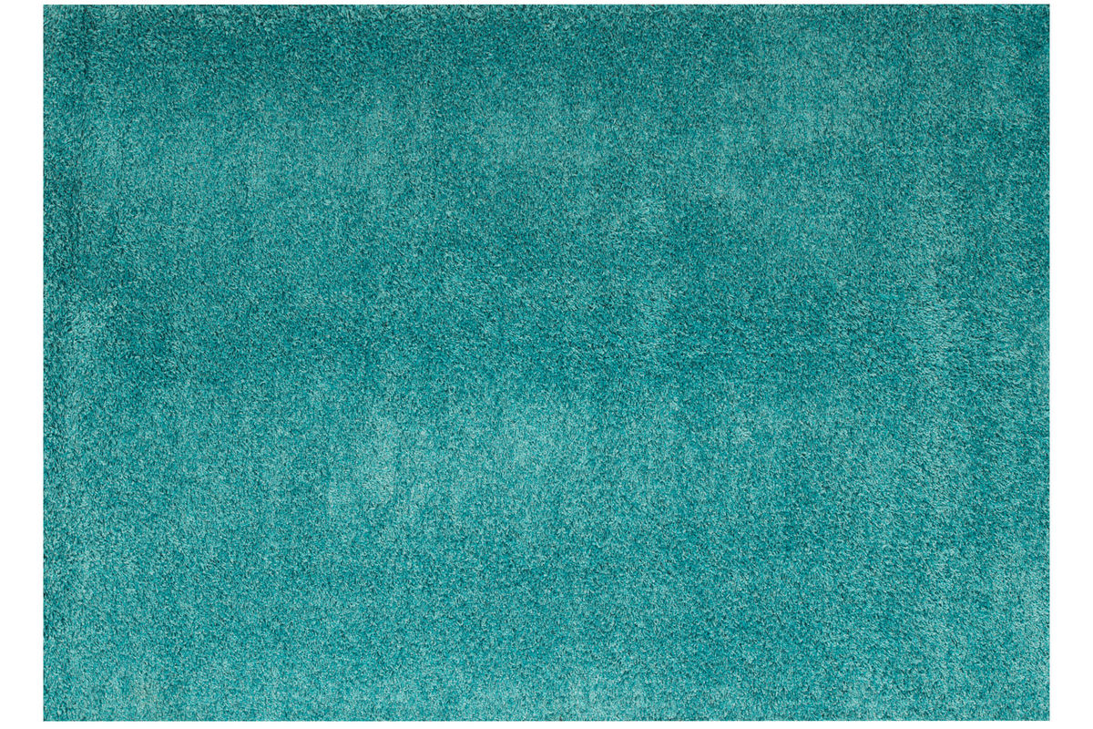 Domino Teal Shag Area Rug At Gardner White