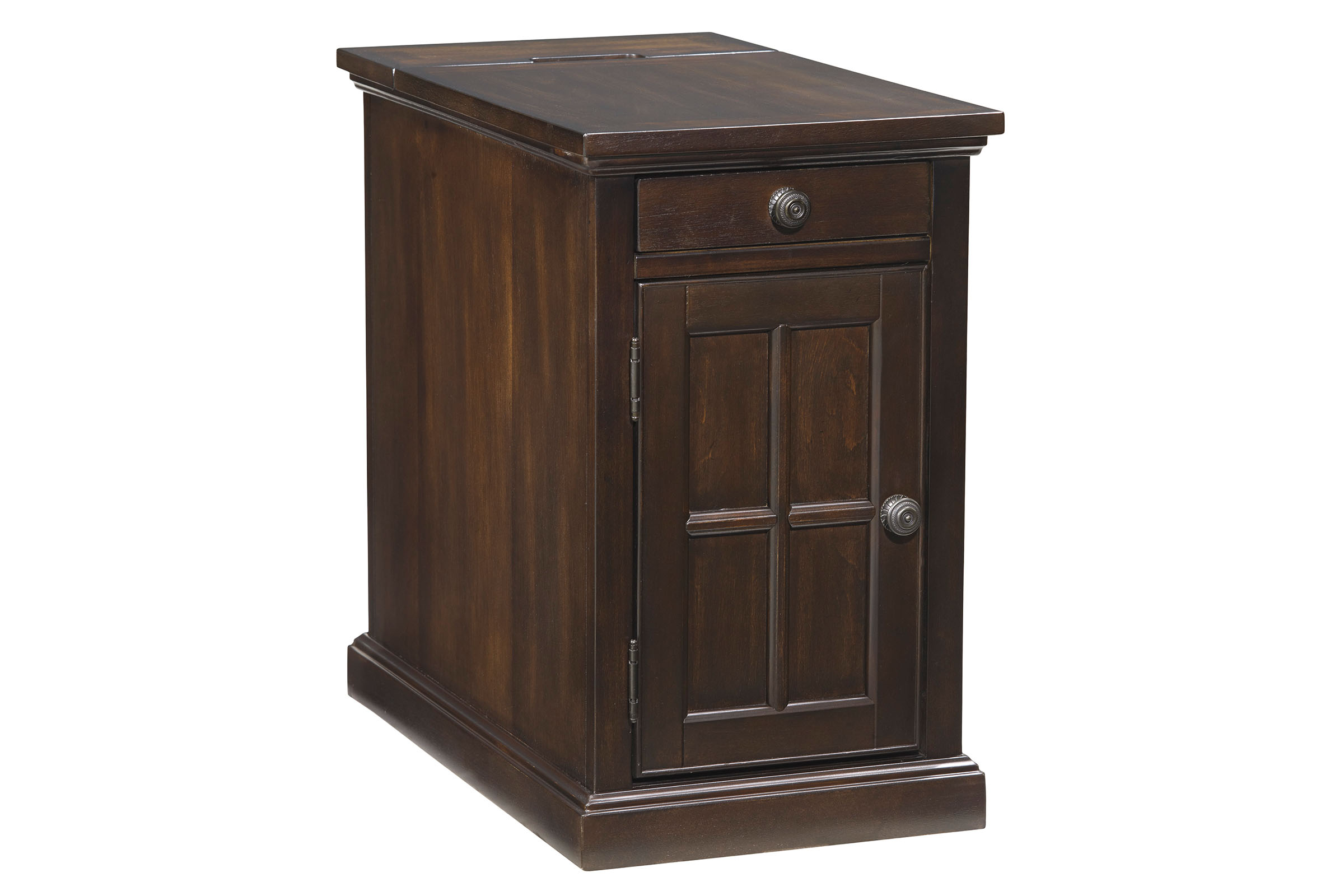 Dark Brown Power Chair Side End Table T127 668
