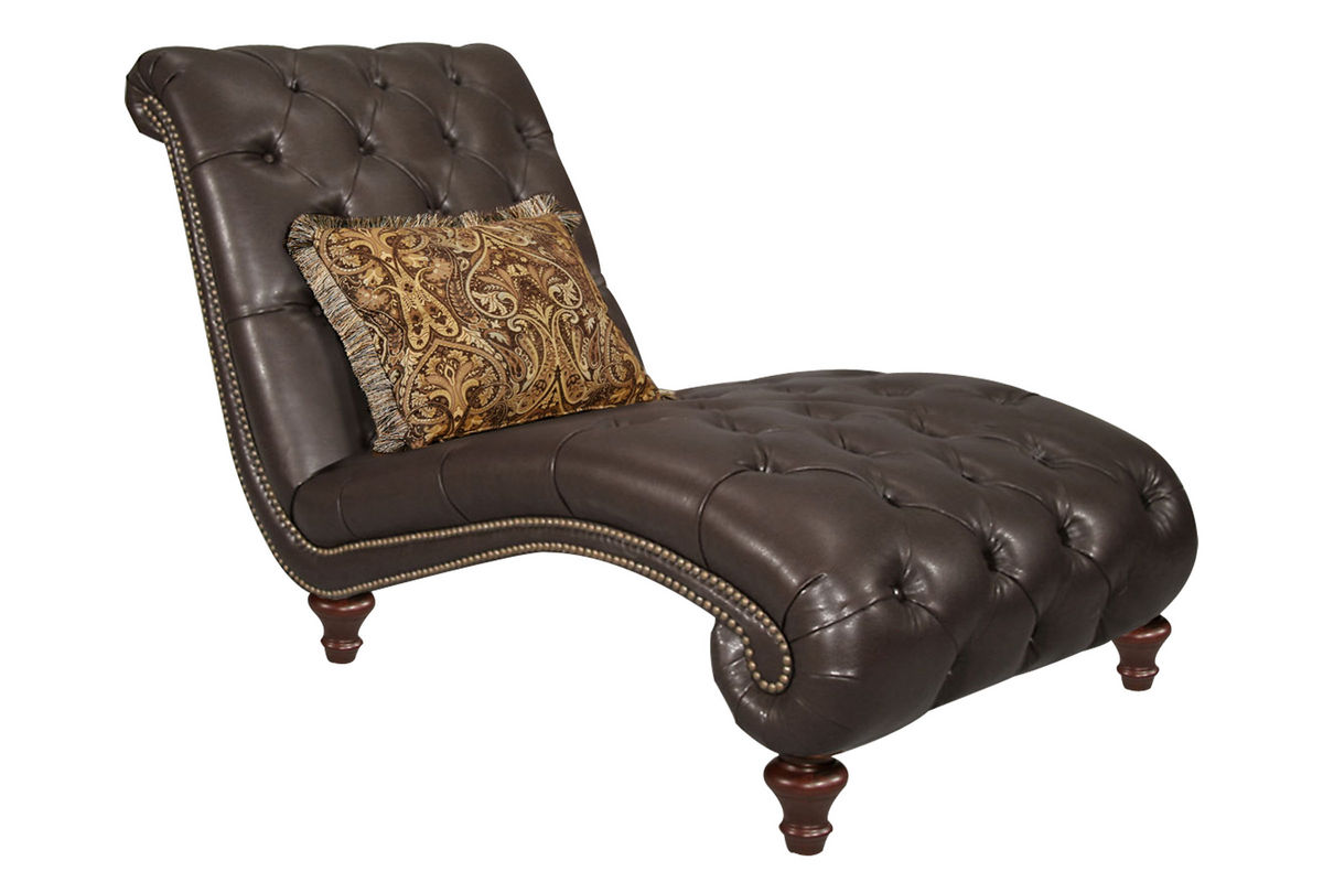 cabernet bonded leather chaise at gardner white