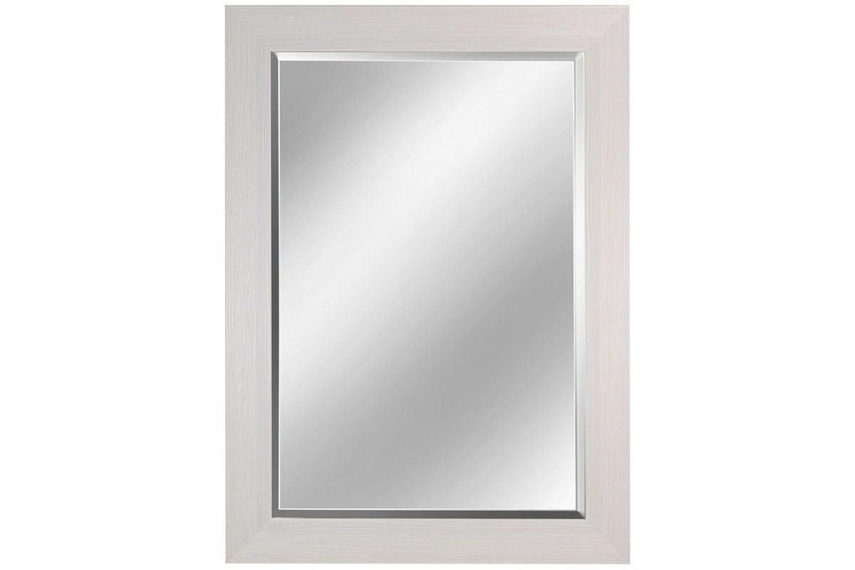 White finish framed mirror at gardner white for White framed mirror