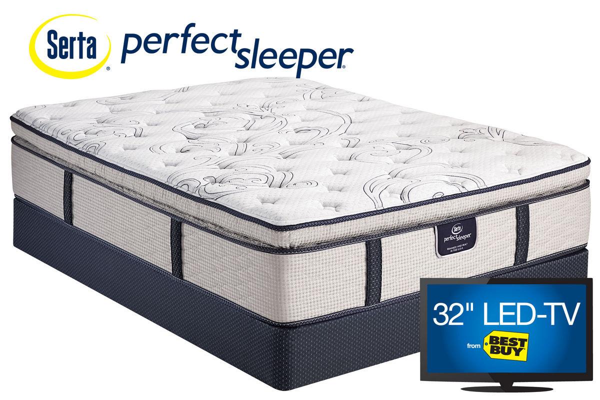 Serta Perfect Sleeper 174 Dunkin Pillow Top Queen Mattress