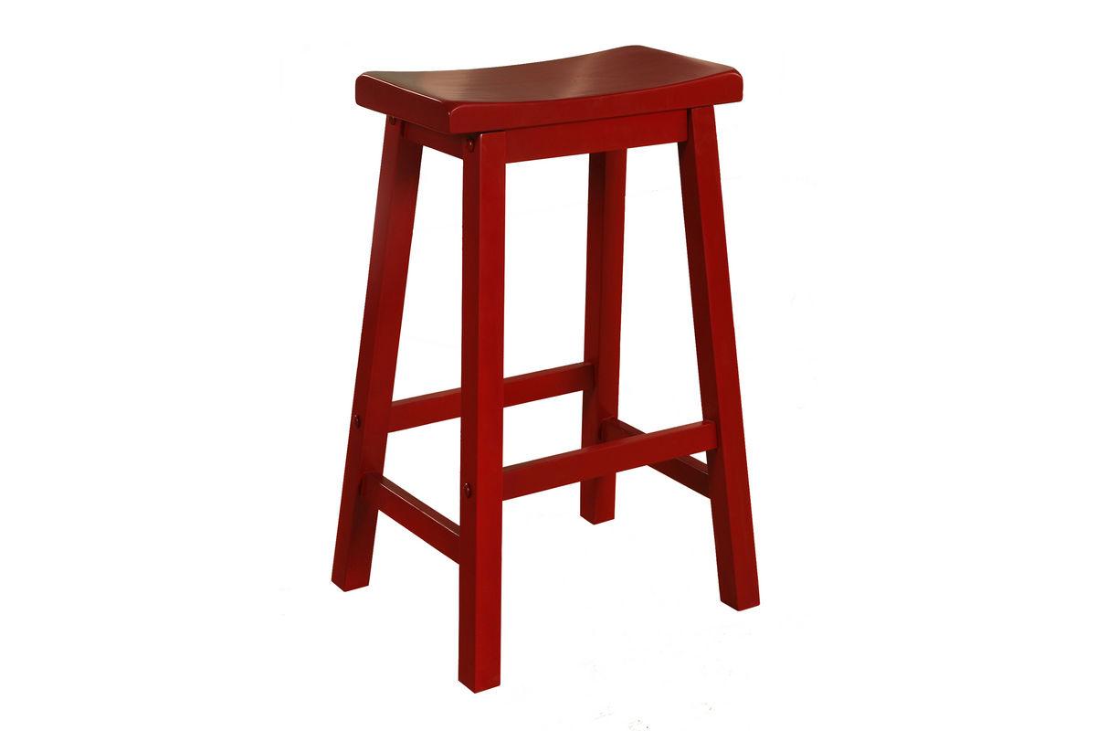 Red Saddle Bar Stool Powell 286 431 At Gardner White