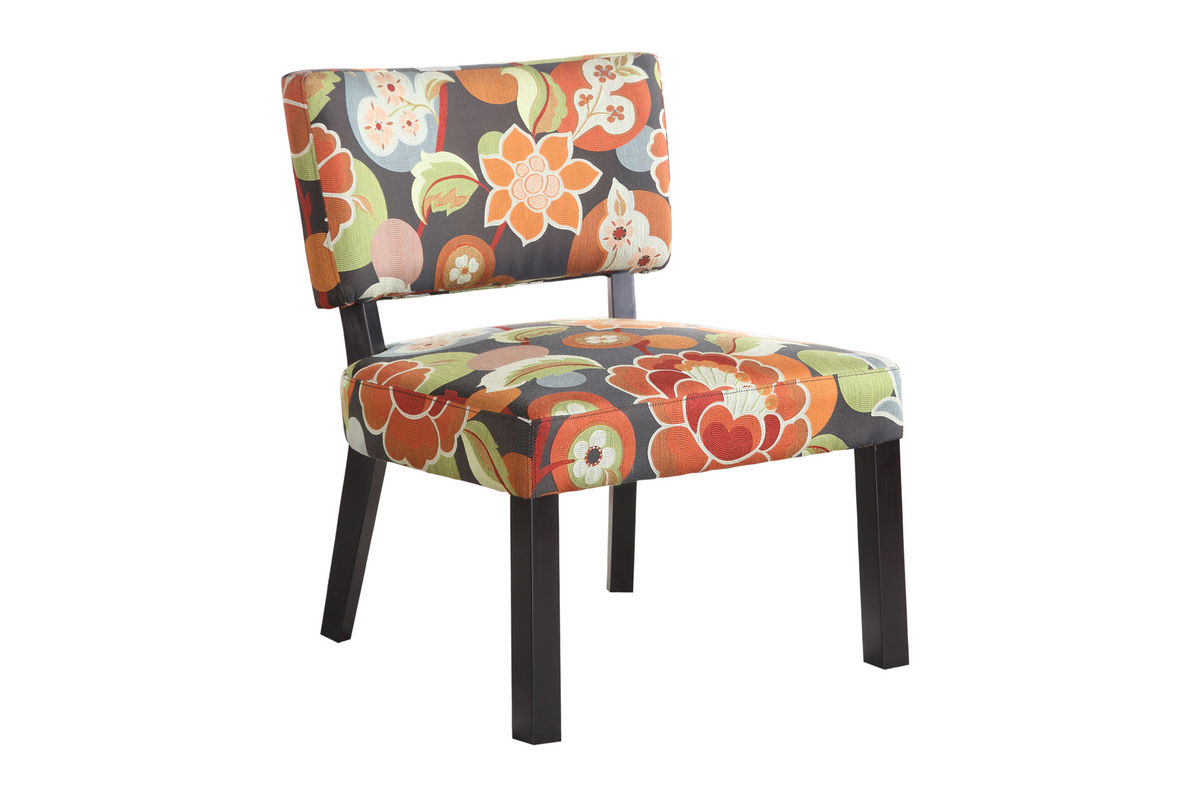 Bright Floral Print Accent Chair Powell 383 936 At Gardner