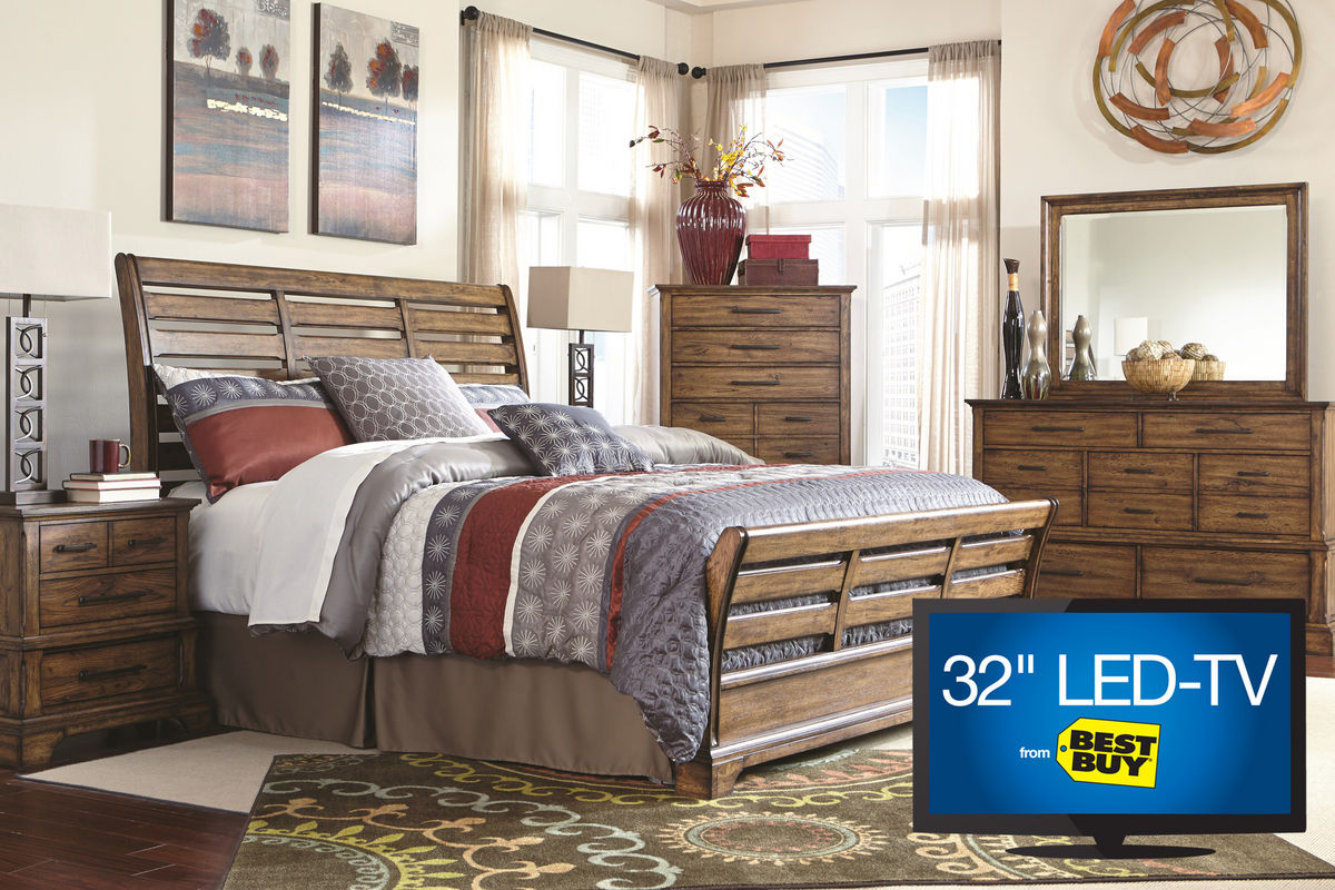 mitchell king bedroom set with 32 led tv