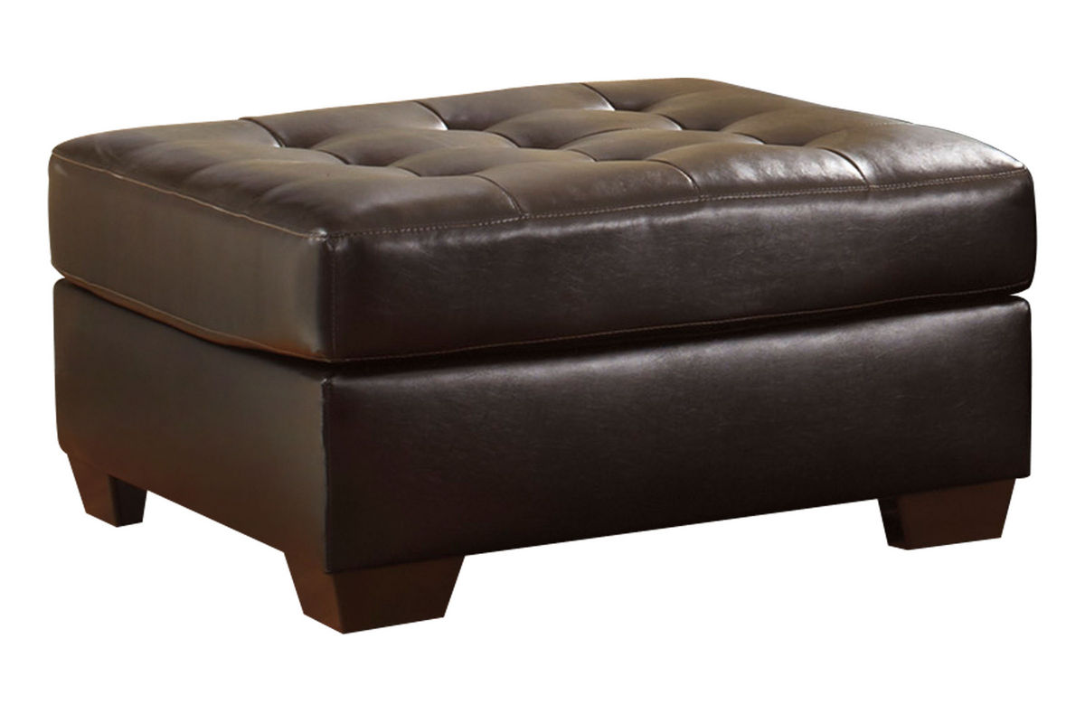 Alliston Bonded Leather Oversized Ottoman At Gardner White