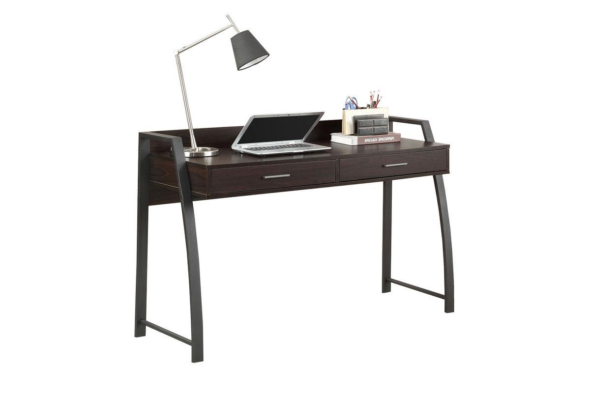 Deep Coffee Black Metal Computer Desk 801141 At Gardner White