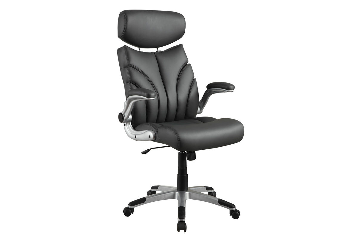 Grey Leather Office Chair 800164 At Gardner White