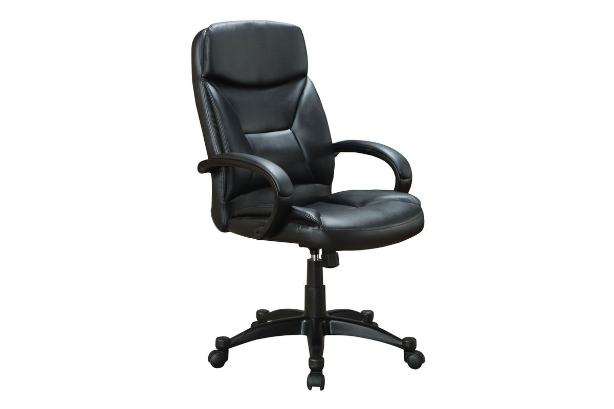 black leather office chair 800204