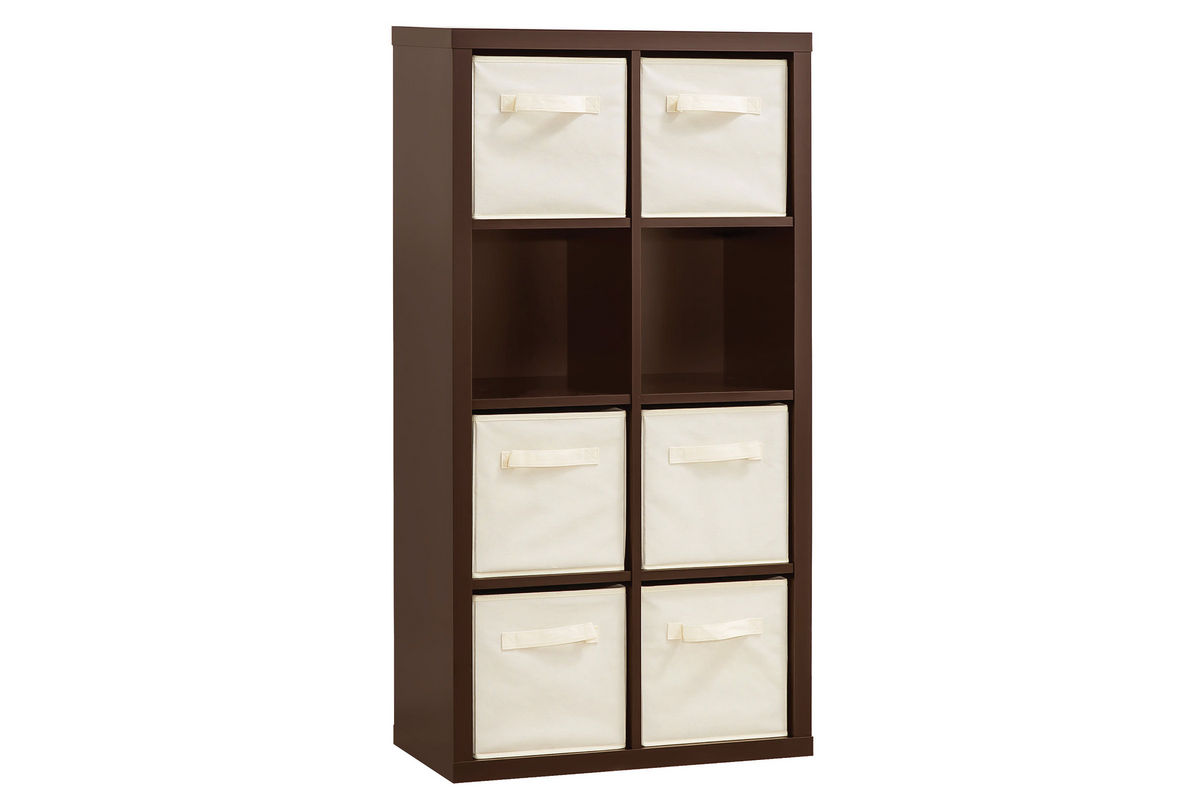 Storage Cabinet With 6 Fabric Baskets 800600