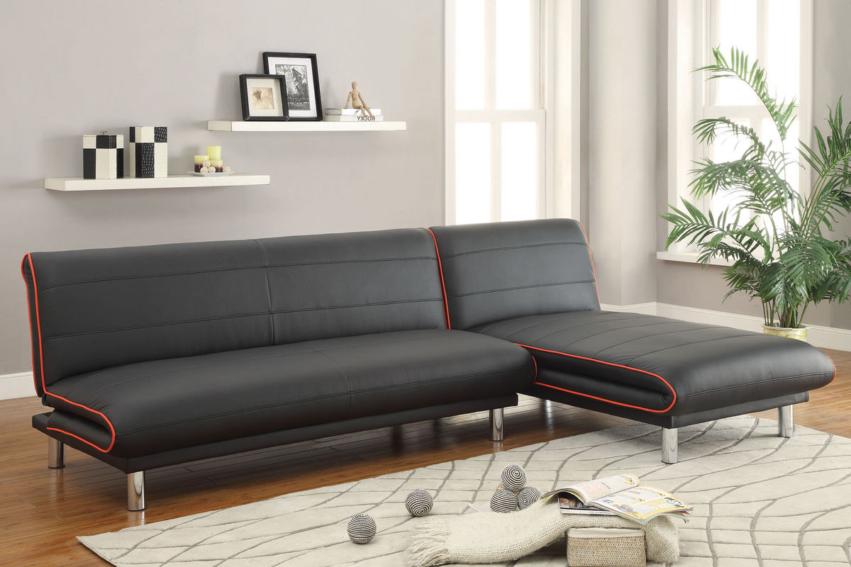 Black Leather Futon 500776 Dropped Per Joe 8 16 16 Jml