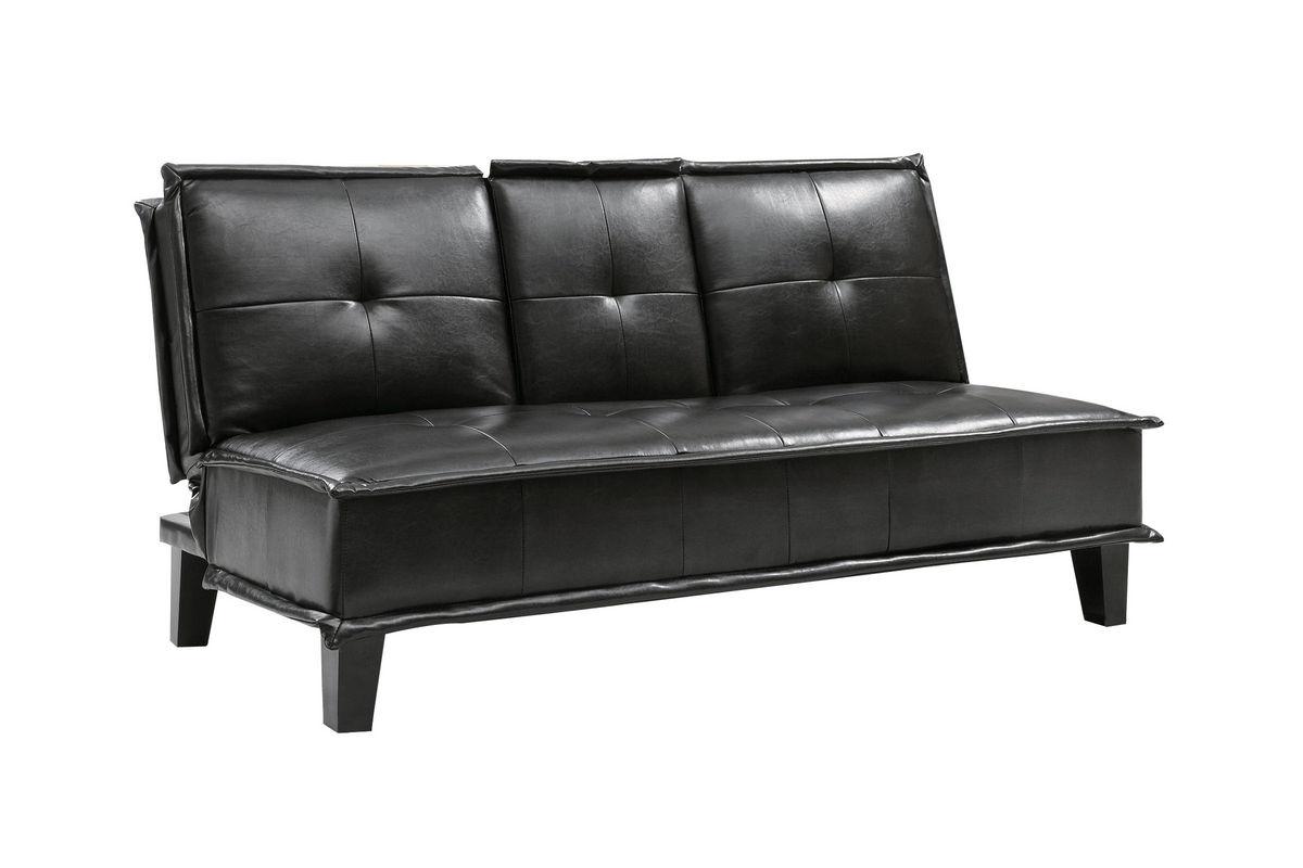 black leather futon 300138 from gardner white furniture