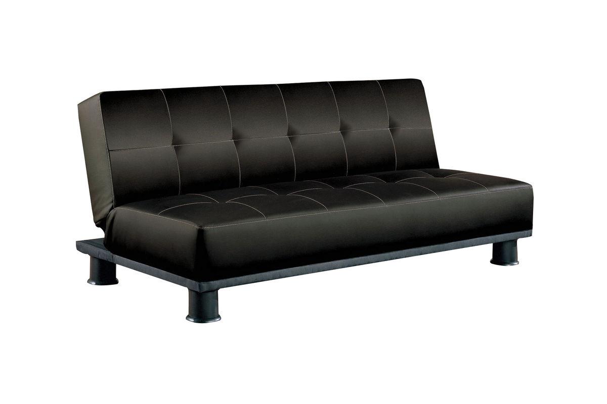 black leather futon 300163 from gardner white furniture