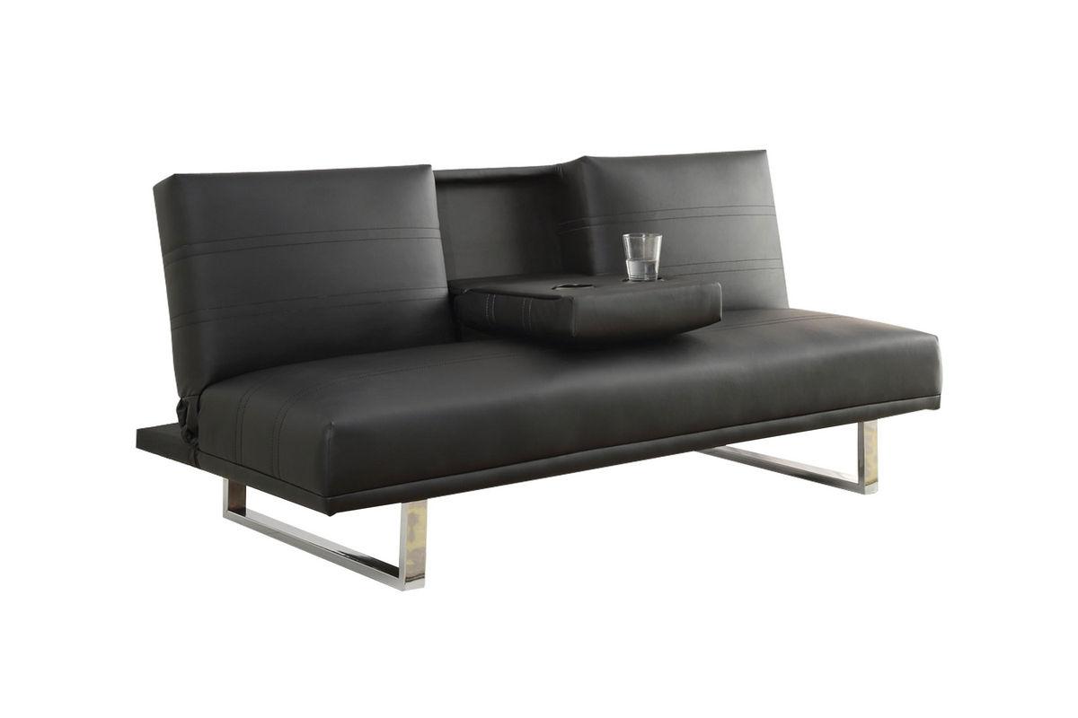black leather futon 500155 from gardner white furniture