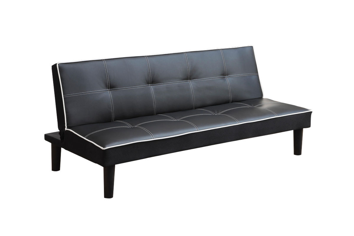 black white leather futon 550044 from gardner white furniture