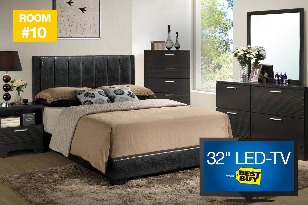 """10 Burbank 5 Piece Queen Bedroom Set with 32"""" TV"""
