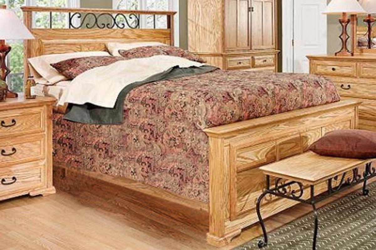 thornwood king size panel bed at gardner white. Black Bedroom Furniture Sets. Home Design Ideas