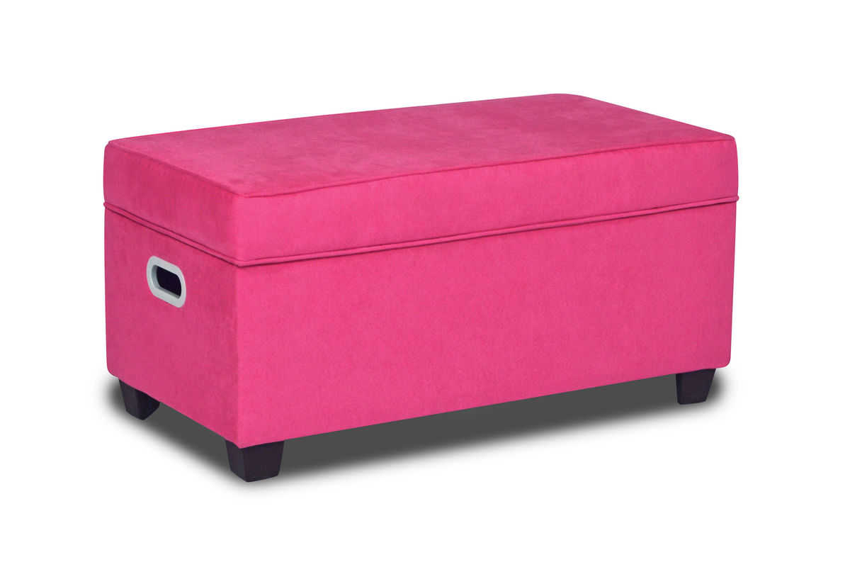 Zippity kids jill storage bench passion pink at gardner white for Gardner storage